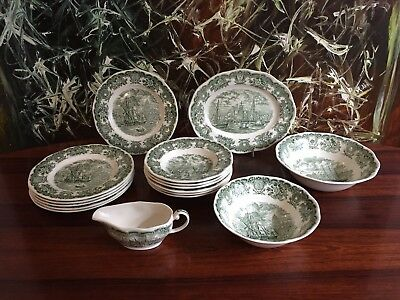 WEDGWOOD England HISTORICAL PORTS OF ENGLAND, 16 teiliges Speiseservice / 6 Pers