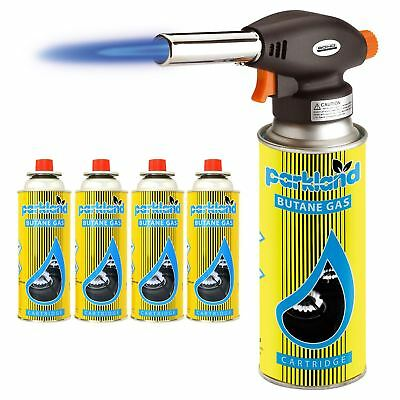 Blow Torch Butane Flamethrower Weed Burner Welding 4 Gas Auto Ignition Soldering