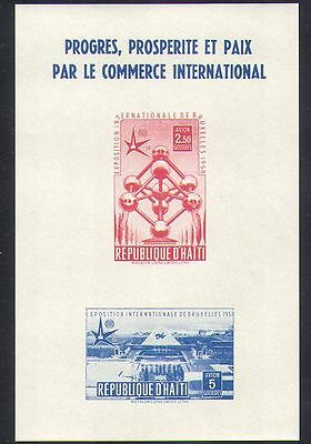 Haiti 1958 EXPO/Exhibition/Buildings/Architecture/Atomium/Commerce m/s (n37337)