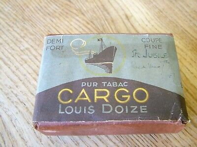 Unopened 1930's Louis Doize Cargo Cigarette Packet Interesting Period Design Nr