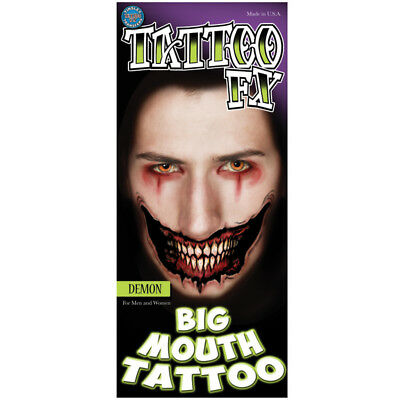 Tinsley Transfers Big Mouth Tattoo Dämon Fake-Tattoo Film-Qualität Body Special