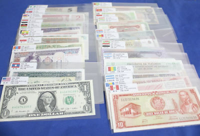 Lots 100 Different Paper Money 50 Countries World Banknotes UNC Collection