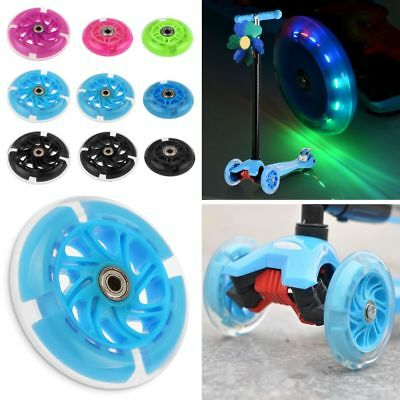 80 100 120mm LED Flash Light Up Wheel for Mini Micro Scooter w/ 2 ABEC-7 Bearing