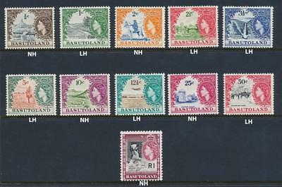 Basutoland 1961 Set, Vf Nh/lh Og Sg#69-79 (See Below) See Picture For Nh