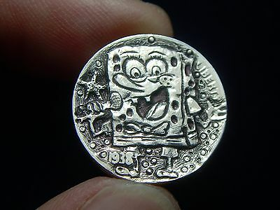 1938-D hobo nickel -SPONGEBOB SQUAREPANTS SINGS AWOKEN