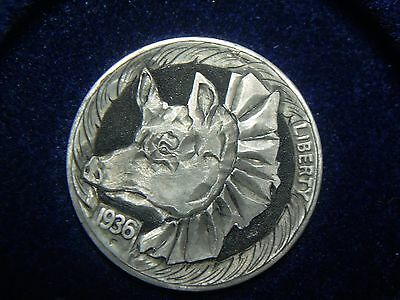 1936-S hobo nickel - PRIZE PIG