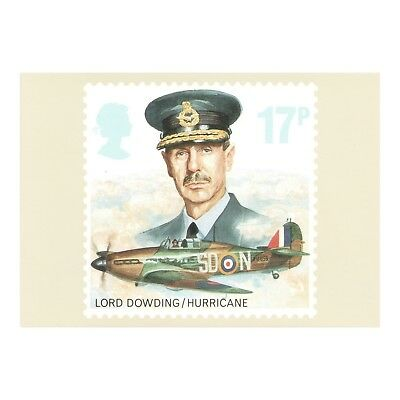 Hawker Hurricane - Fighter Aircraft Lord Dowding Royal Mail Phq 97 Postcard