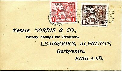 1924 KING GEORGE 5th WEMBLEY EXHIBITION GREAT BRITAIN VERY CLEAN FDC FREEPOST UK