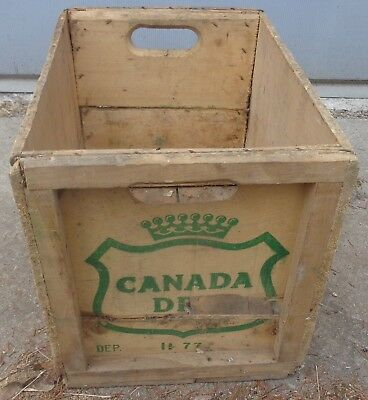 RP2188 Vintage Canada Dry Ginger Ale Soda Pop Wood Wooden Crate Case