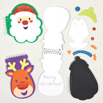 Christmas Spiral Notebook Kits -Perfect Stocking Filler for Children (Pack of 4)