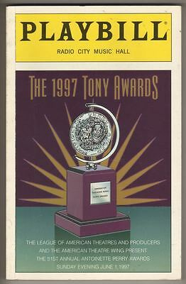 Tony Awards Playbill 1997  202 Pages   Hosted by Rosie O'Donnell