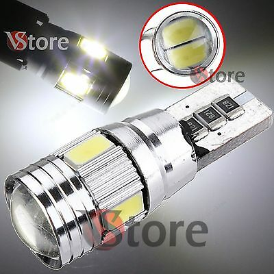 2 Lampade Led T10 6 smd CANBUS Luce Posizione No Errore BIANCA 5630 HID AUTO 12V