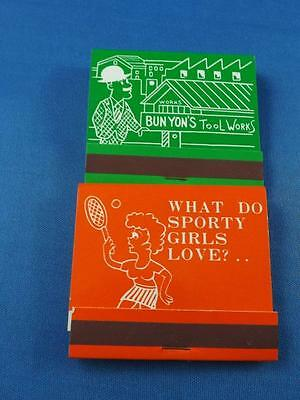 Novelty Matchbook Vintage Joke Trick Risque Matches Full Funny Tennis Tools