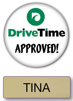 Tina Drive Time Commercial Magnet Back Name Badge & Button Halloween Ships Free