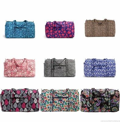 NWT Vera Bradley Large Duffel, Travel Carry On, Gym, Weekend, Overnight MSRP $85