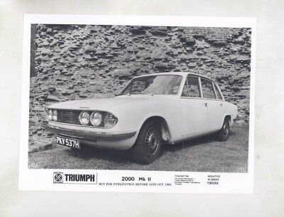 1969 ? Triumph 2000 Mark II ORIGINAL Factory Photograph wy6655