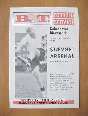 STAEVNET v ARSENAL Fairs Cup 1963/1964 First European Match Programme *Exc Cond*