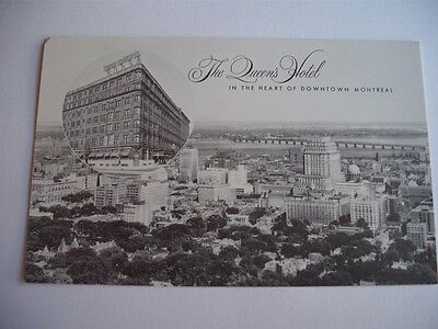 The Queen's Hotel In The Heart Of Downtown Montreal Canada Vintage Postcard
