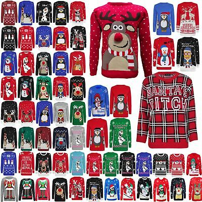 Womens Ladies Mens Xmas Christmas Novelty Vintage 70's Jumper Retro Sweater