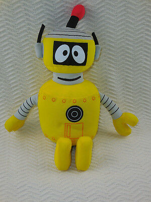 "Yo Gabba Gabba PLEX Talking Singing 12"" Plush Toy Doll 2008 Spin Master Yellow"