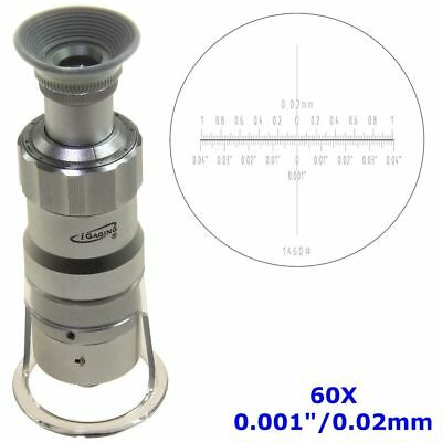 "Measuring Microscope 60X 0.001""/0.02mm Magnifier Loupe Scale Reticle LED Lighted"