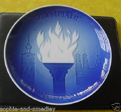 1972 Bing & Grondahl Plate - Munich, Germany Olympic Games - Olympic Flame
