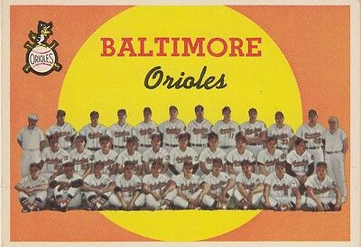 Topps 1959 #48 Baltimore Orioles Team Card