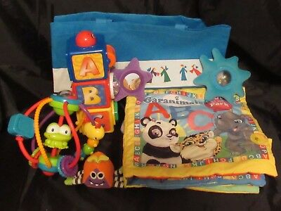 Reborn baby doll Nursery Play set Baby activity Blanket ABC block toys + more