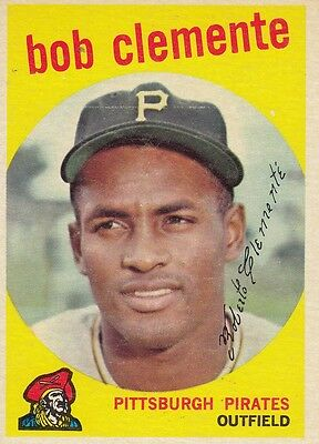 Topps 1959 #478 Roberto Clemente-Hall of Famer-Pittsburgh Pirates