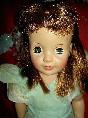 "Original 1960 Ideal Pattite Patti PlayPal 18"" doll rooted hair, freckles, Xlnt."