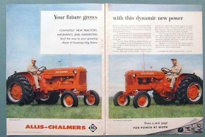 YOUR FUTURE GROWS Original 1958 Allis-Chalmers D-17 & D-14 Tractor Ad