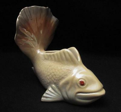 Signed Vintage Wembley Ware Lustre Fish Shaped Float Vase -  Australian Pottery
