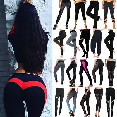 Hot Sexy YOGA Workout Gym Fitness Leggings Pants Jumpsuit Athletic Clothes US