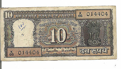 India, 10 Rupees, P#59, Nd