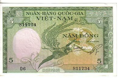 Vietnam South, 5 Dong,  Nd(1955) , Unc