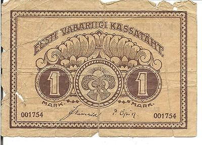 Estonia, 1 Mark,p#43,1919