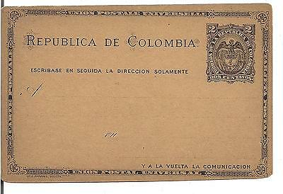 COLOMBIA, Old Postal Stationery 2C, UNUSED, 1800's ?