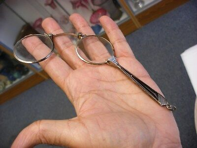 "Antique Vtg Spectacles Eyeglasses Lorgnette Hanging Type 4 1/5"" No. 2"