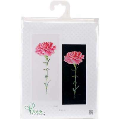 """Carnation Pink On Aida Counted Cross Stitch Kit 6.5""""X16.5"""" 18 Cou 499994656131"""