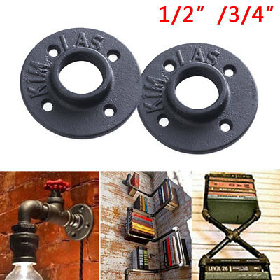 """Malleable Threaded Iron Pipe Fittings Floor Flange Wall (1/2"""", 3/4"""" BSP Thread)"""