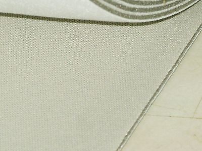 "1.6 Mtrs Cream Grey Car Trimming Roof Head Lining Foam Backed Fabric 63"" Rl16"