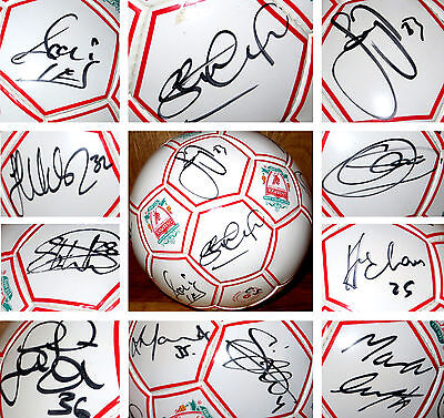 GENUINE, Liverpool 2005 Champions League Winners Squad Signed Ball Includes COA