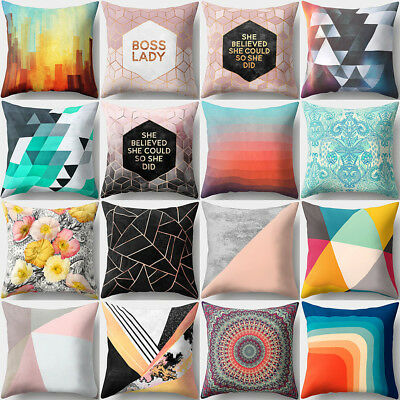 Letter Pattern Comfortable Cushion Cover Bed Sofa Pillowcase Home Decor Novelty