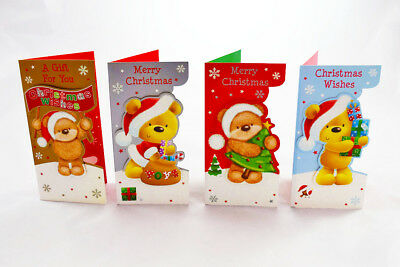 4 Pack of Cute Christmas Money Wallets Gift Cards Envelopes Handmade MW-G3