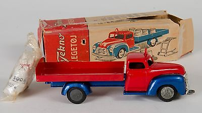 Tekno 735 Lorry with Bags. Red/Blue & with ALL bags and Trolley. Boxed. RARE.
