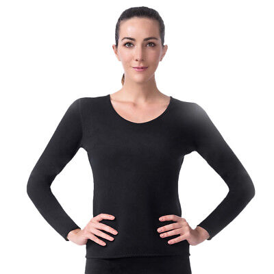 Long Sleeve Thermo Exercise Gym Sauna Suit Body Shaper Neoprene Shirt Top L