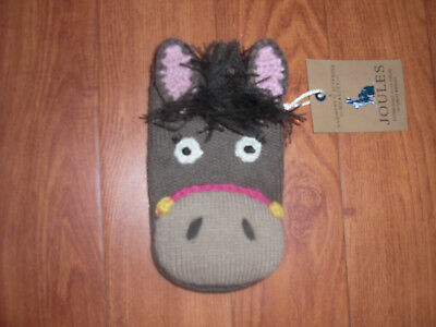 Bnwt Girls Jolly Joules Horse Pony Knitted Mobile Phone Purse Cover.rrp £12.95