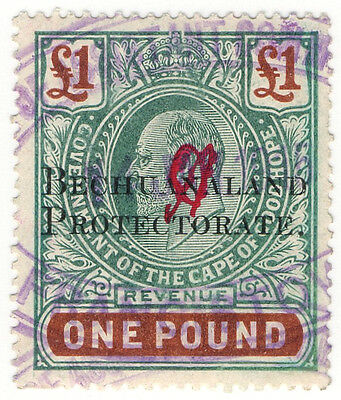 (I.B) Bechuanaland Protectorate Revenue : Duty Stamp £1