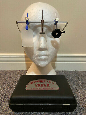 Varga 2000 23mm Rifle Shooting Glasses Frame Basic w/Left Iris & ISSF eyeshield
