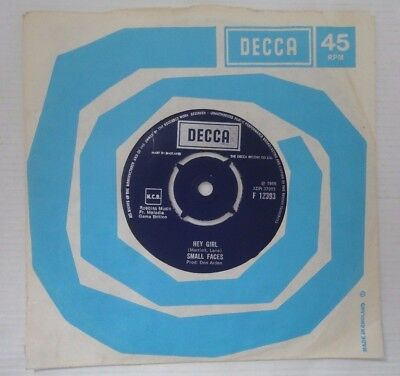 Small Faces,hey Girl / Almost Grown,1966 Rare Boxed Decca Uk Press T12C T21C,ex+
